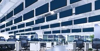 acil-alan-ofislerde-baffle-yuzer-tavan-cozumleri